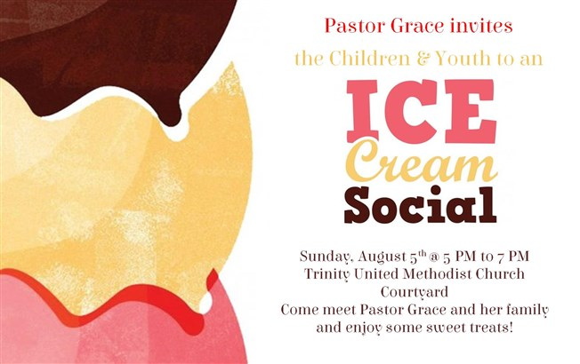 Youth and Children's Ice Cream Social with Pastor Grace